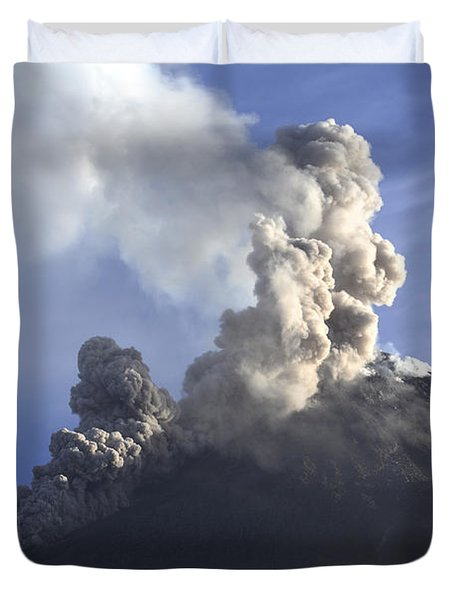 Merapi Eruption, Java Island, Indonesia Duvet Cover by Martin Rietze