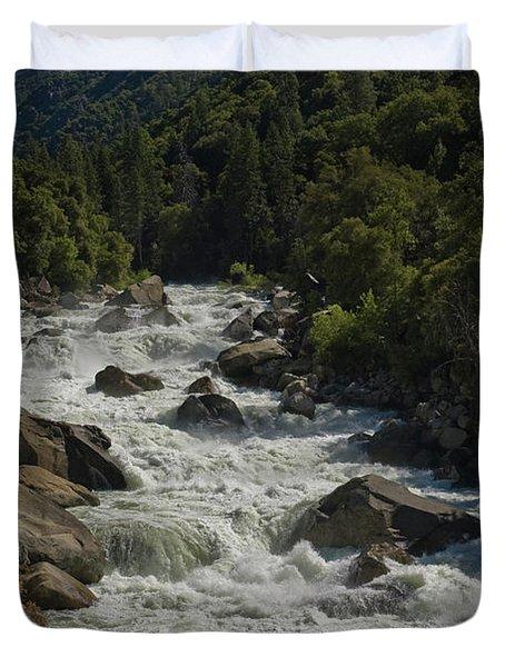 Merced River In Yosemite Duvet Cover by Tim Mulina