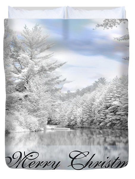 Merry Christmas - Lykens Reservoir Duvet Cover by Lori Deiter