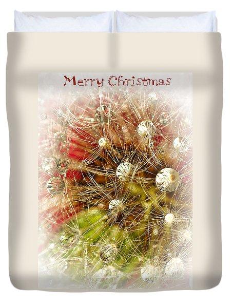 Merry Christmas Duvet Cover by Kaye Menner