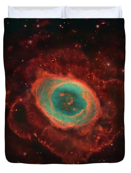 Messier 57, The Ring Nebula Duvet Cover by Robert Gendler