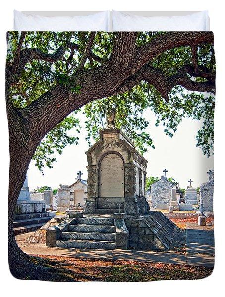 Metairie Cemetery Duvet Cover by Steve Harrington