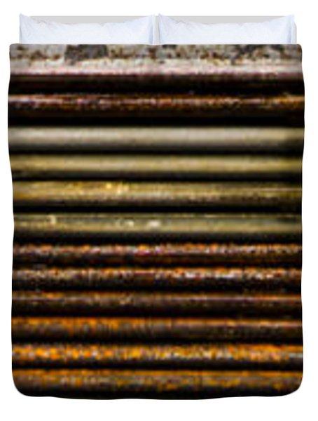 Metal Stripe  Duvet Cover by Jean Noren