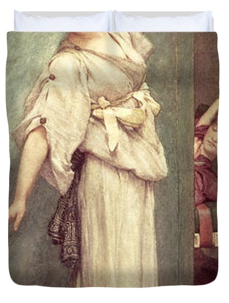 Midday Slumbers  Duvet Cover by Sir Lawrence Alma-Tadema