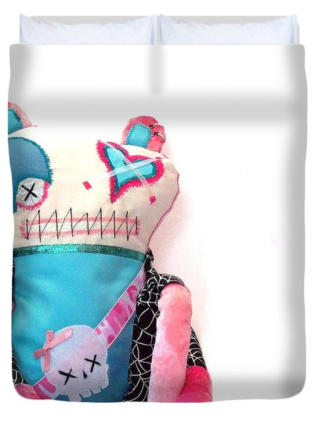 Mika The Original Party Monster Zombie Duvet Cover by Oddball Art Co by Lizzy Love