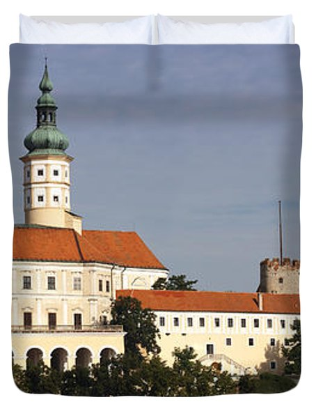 Mikulov Castle Duvet Cover by Michal Boubin