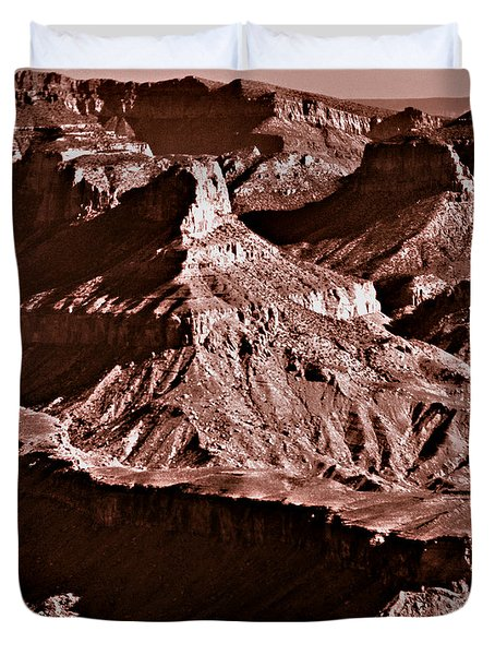 Milk Chocolate Mountains Duvet Cover by Bob and Nadine Johnston