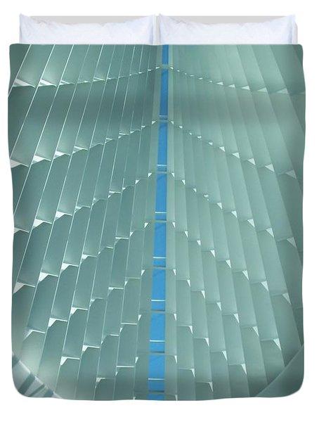 Milwaukee Art Museum interior Duvet Cover by Anita Burgermeister