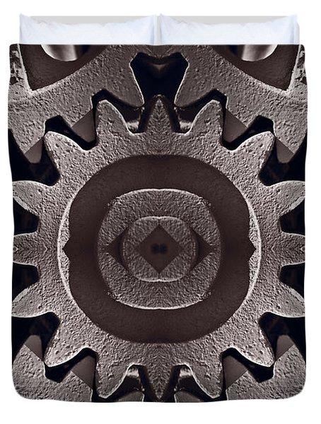 Mirror Gears Duvet Cover by Steve Gadomski