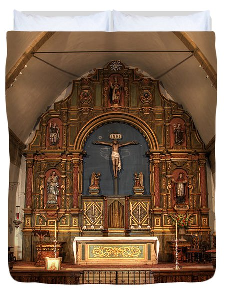 Mission San Carlos Borromeo De Carmelo  11 Duvet Cover by Bob Christopher