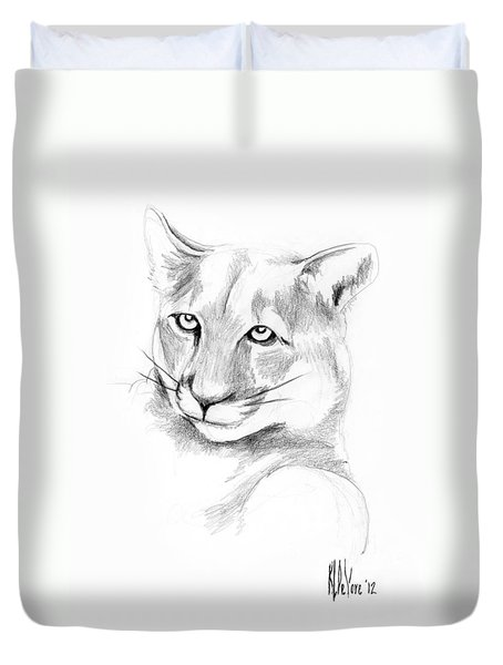 Missouri Mountain Lion  Duvet Cover by Kip DeVore