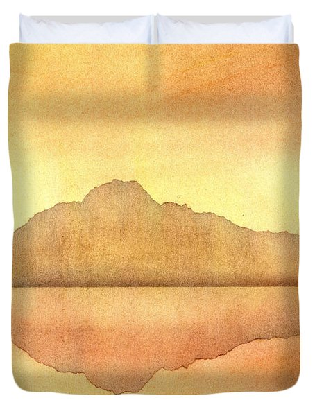 Misty Sunset Duvet Cover by Hakon Soreide