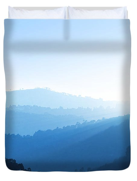 Misty Valley Duvet Cover by Carlos Caetano