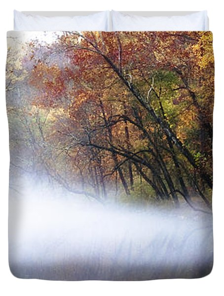 Misty Wissahickon Creek Duvet Cover by Bill Cannon