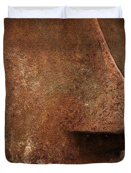 Moai Face Duvet Cover by LeeAnn McLaneGoetz McLaneGoetzStudioLLCcom