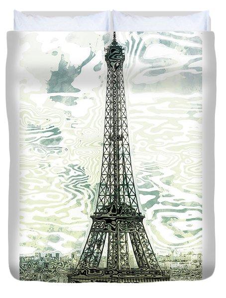 Modern-art Eiffel Tower 12 Duvet Cover by Melanie Viola