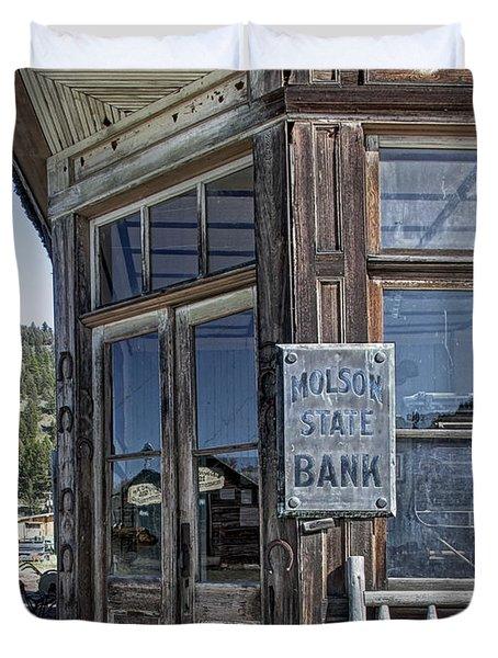 Molson Washington Ghost Town Bank Duvet Cover by Daniel Hagerman