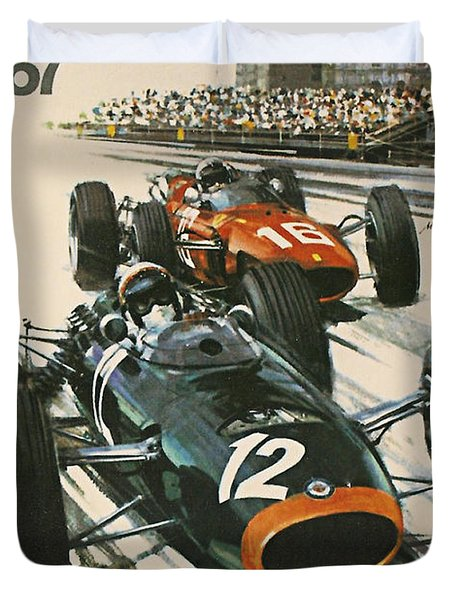 Monaco Grand Prix 1967 Duvet Cover by Nomad Art And  Design
