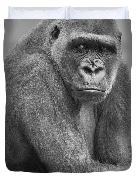 Monkey Duvet Cover by Darren Greenwood