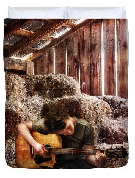 Montana Boy Duvet Cover by Shawna Mac