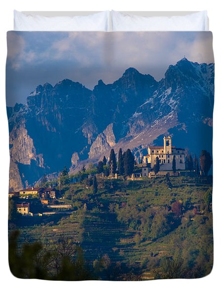Montevecchia And Resegone Duvet Cover by Marco Busoni