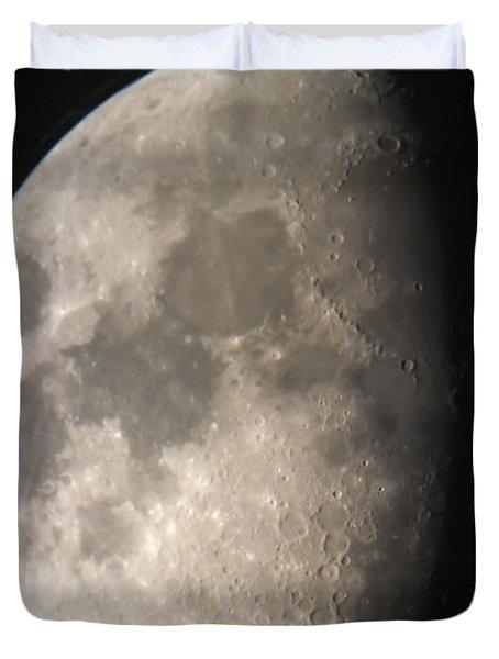 Moon Against The Black Sky Duvet Cover by John Short