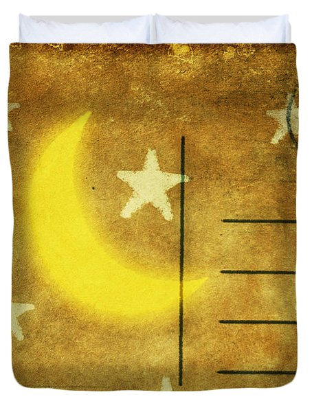 moon and star postcard Duvet Cover by Setsiri Silapasuwanchai