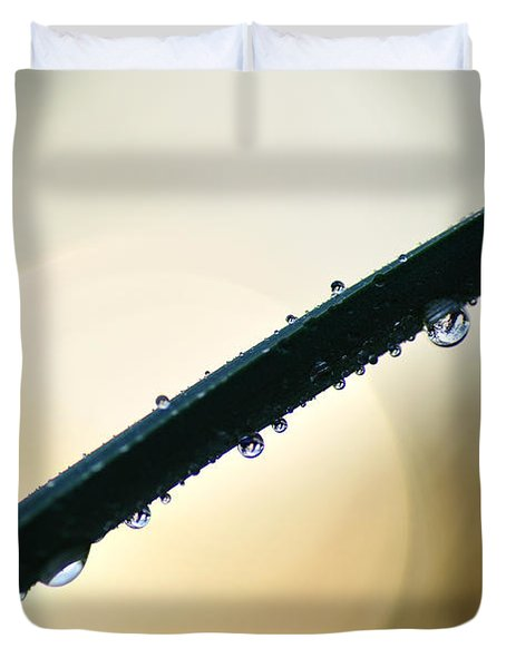 Moon Drops Duvet Cover by Kaye Menner