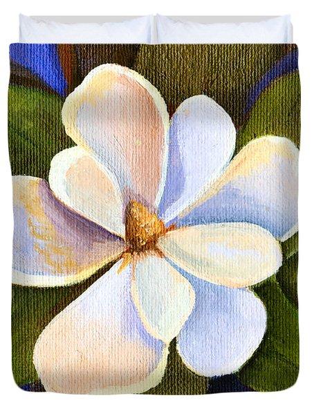 Moon Light Magnolia Duvet Cover by Elaine Hodges