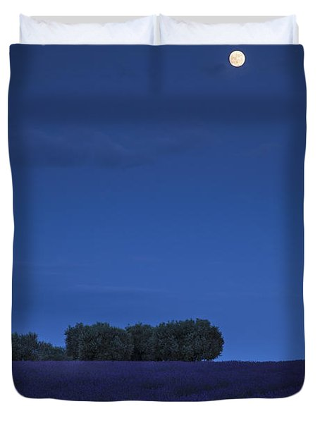 Moon Over Lavender Duvet Cover by Brian Jannsen