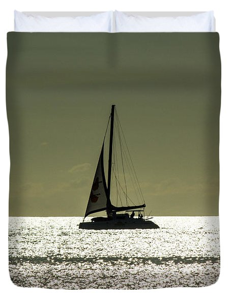 Moonlight Sail Duvet Cover by Rene Triay Photography