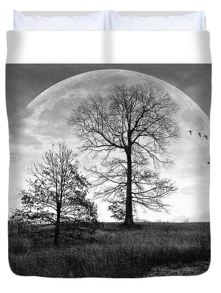 Moonlit Silhouette Duvet Cover by Brian Wallace