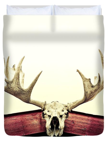 Moose Trophy Duvet Cover by Priska Wettstein