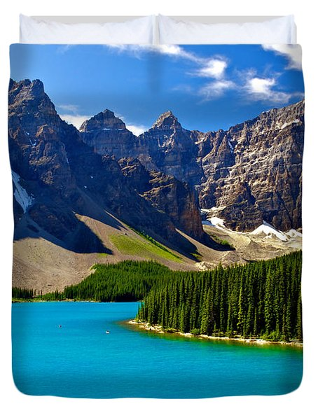 Moraine Lake Duvet Cover by James Steinberg and Photo Researchers