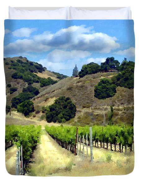 Morning At Mosby Vineyards Duvet Cover by Kurt Van Wagner