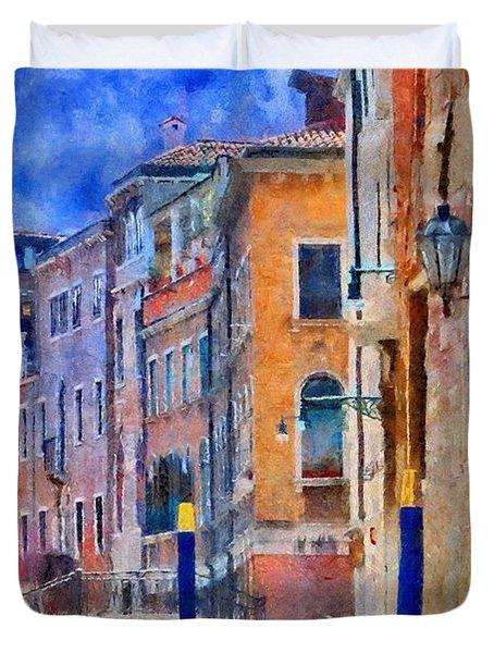 Morning Calm In Venice Duvet Cover by Jeff Kolker
