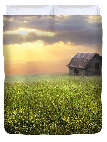 Morning Has Broken Duvet Cover by Debra and Dave Vanderlaan