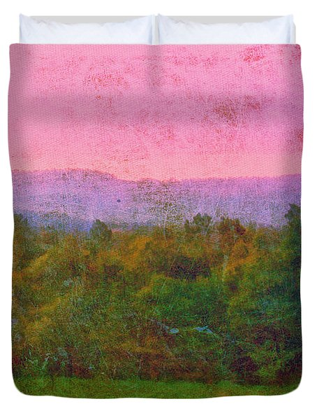 Morning In The Mountains Duvet Cover by Judi Bagwell