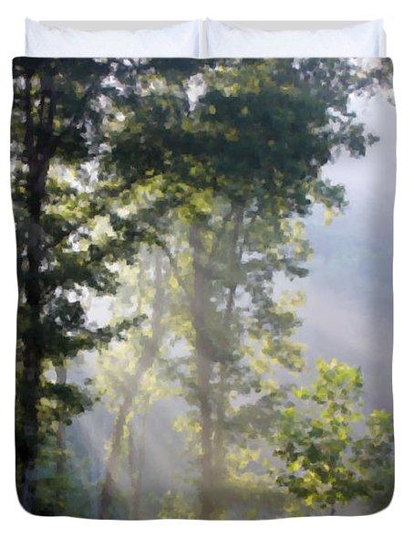 Morning Sun Duvet Cover by Kristin Elmquist