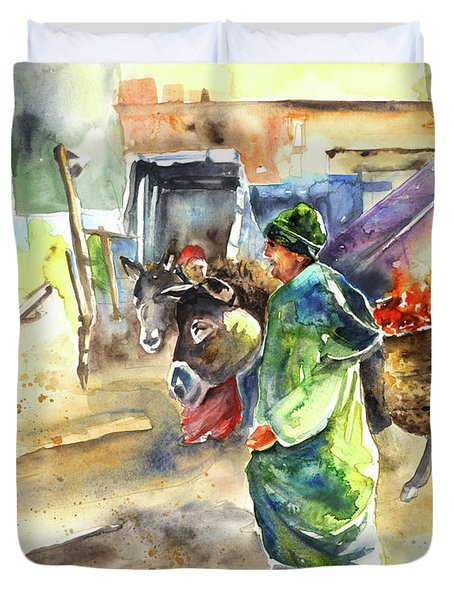 Morrocan Market 04 Duvet Cover by Miki De Goodaboom
