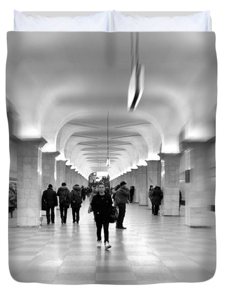 Moscow Underground Duvet Cover by Stylianos Kleanthous