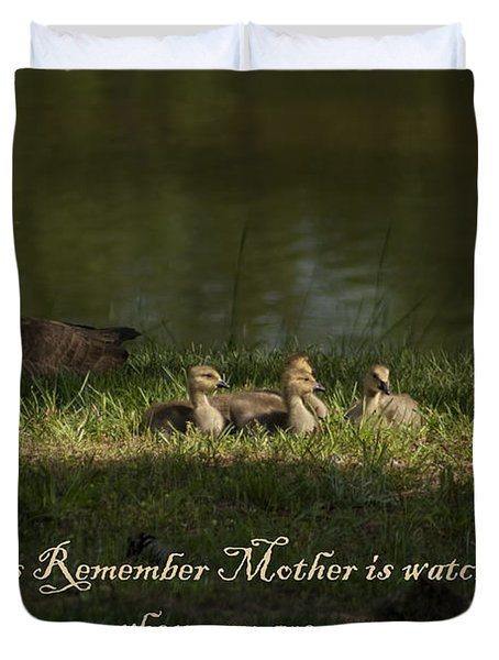 Mother's Watchful Eye Duvet Cover by Kathy Clark
