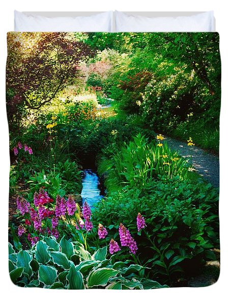 Mount Usher Gardens, Co Wicklow Duvet Cover by The Irish Image Collection