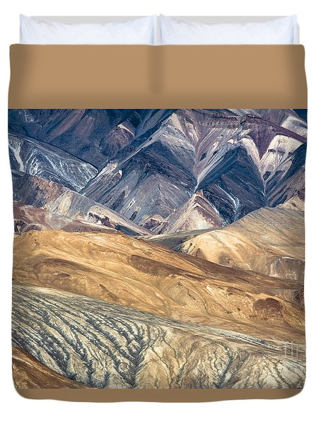 Mountain Abstract 4 Duvet Cover by Hitendra SINKAR