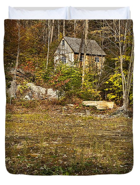 Mountain Cabin Duvet Cover by John Greim