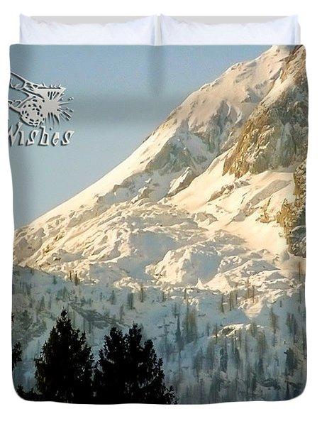 Mountain Christmas 2 Austria Europe Duvet Cover by Sabine Jacobs