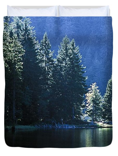 Mountain Lake In Arbersee, Germany Duvet Cover by John Doornkamp