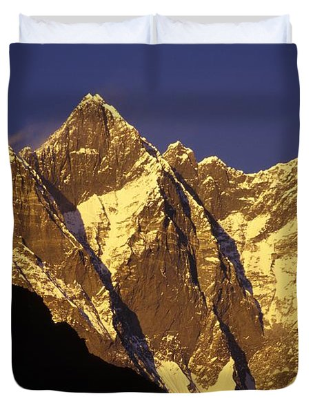 Mountain Peaks Duvet Cover by Sean White