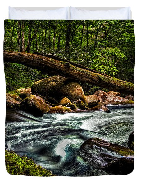 Mountain Stream Iv Duvet Cover by Christopher Holmes