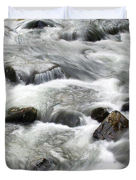 Mountain Stream Smokies Duvet Cover by Rich Franco